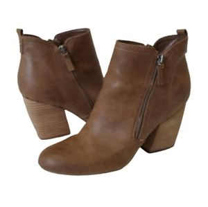Crown Vintage Brown Leather Bootie, 9.5